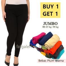 BUY 1 GET 1 Celana Legging Panjang Wanita Ukuran Jumbo