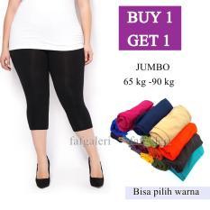 BUY 1 GET 1 Celana Legging Pendek Ukuran Jumbo