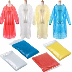 (Buy 1 Get 4 Free) Disposable Raincoat Multicolor - Jas Hujan Ponco Plastik