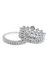 Buy TRA Set Cincin Pernikahan Mahkota Rhinestone