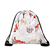 BXO Hot 3D Cetakan Digital Pocket Bag Snow Fox FOX WINTERr 2017 Daftar Baru-Intl