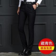 OLEH Pria Versi Tipis Korea Profesional Bisnis Slim Adalah Pants-Angkatan Laut-Intl