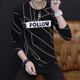Byl Remaja Siswa Kemeja Leher Bulat T Shirt Hitam Baju Atasan Kaos Pria Kemeja Pria Tiongkok