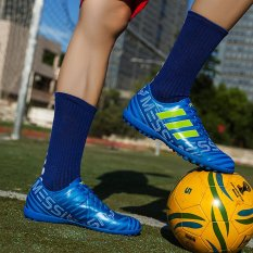 BYL-S Messi Sepak Bola Sepatu TF/FG Sepak Bola Sepatu Sneakers (Biru)