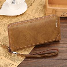 Harga Byt Baellery Brand Multifunctional Long Men Leather Wallet 838 Khaki Intl Asli