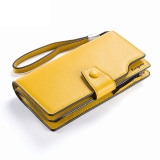 Kualitas Byt Baellery Gaya Korea Kulit Imitasi Ritsleting Kulit Dompet Panjang Wanita Tas Gelang N64008 Kuning International Baellerry