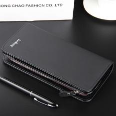 Spesifikasi Byt Baellery Premium Pu Kulit Dompet Pria Panjang Tas Tangan S410 Hitam Terbaru