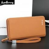 Harga Byt Baellery Premium Pu Kulit Dompet Pria Panjang Tas Tangan Dengan Pergelangan Tangan Band S410 Coklat Asli