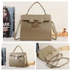 Urbantrendy Tas Fashion Import Handbag Wanita Import C07245 Khaki Urban Trends Collection Diskon 50
