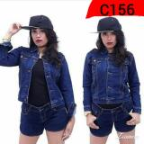 Jual Beli C156 Jaket Denim Blue Women