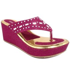 Toko Cabaret Sandal Anak Perempuan Hak Wedges Jepit Party Fuchsia Online