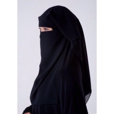 Cadar Saudi 2 Layer (Import Saudi) / Niqab 2 Lapis / Purdah Saudi