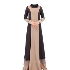 Caftan Abaya-turki Islam Muslim Dress Wanita Arab Malaysia Jubah Kaftan Fashion Pakaian Ladies Renda Appliques Plus Ukuran XXL- INTL
