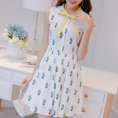 Promo Caidaifei Korea Fashion Style Musim Semi Dan Musim Panas Baru Terlihat Langsing Kasual Gaun Putih Baju Wanita Dress Wanita Gaun Wanita Di Tiongkok