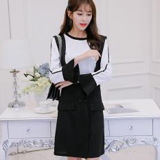 Harga Caidaifei Korea Fashion Style Musim Semi Dan Musim Panas Baru Ukuran Besar Slim Lengan Panjang Gaun Putih Termahal