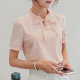 Spesifikasi Caidaifei Baju Dalaman Korea Fashion Style Musim Semi Dan Musim Panas Kemeja Putih Lengan Pendek Merah Muda Oem