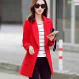 Spesifikasi Caidaifei Jaket Parka Korea Fashion Style Wol Musim Gugur Dan Musim Dingin Baru Merah Baju Wanita Jaket Wanita Yang Bagus