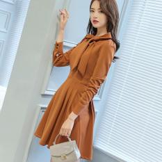Caidaifei Korea Fashion Style Ukuran Besar Terlihat Langsing Musim Semi Dan Musim Panas Kasual Gaun (