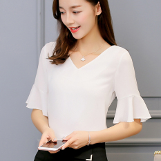 Spek Caidaifei Korean Style Spring And Summer New Style Slim Fit Plus Sized Shirt Putih Oem