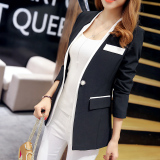 Jual Caidaifei Korea Fashion Style Musim Semi Dan Musim Panas Baru Temperamen Wanita Jas Hitam Hitam Antik