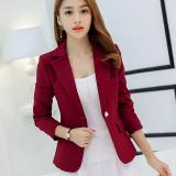 Spek Caidaifei Korea Fashion Style Warna Solid Slim Lengan Panjang Wanita Jas Setelan Anggur Merah Rrr96 Anggur Merah Rrr96