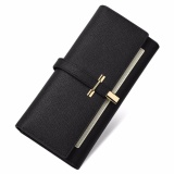 Toko Callaghan New Split Leather Women Wallets Long Coin Purse Card Holder Wallet Female Hasp Clasp Purse Clutch Money Wallet For Women Black Intl Online