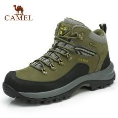 UNTA Pria Tahan Air Kulit Sapi Thermal Hiking Pendakian Sepatu Tinggi Top  Hiking Luar Ruangan Sneakers 32821edf92