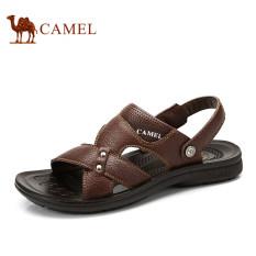Tips Beli Camel Men S Casual Kulit Sapi Sandal Non Slip Slip On Summer Beach Memakai Flip Flop Warna Coklat