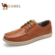 Camel Men's Daily Casual Bernapas Berongga Keluar Sepatu (Cokelat)