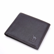 Review Camel Men S Fashion Business Casual Genuine Cow Leather Wallet Coffee Intl Di Tiongkok