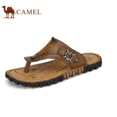 Camel Men's Out Door Casual Cool English. Flip Jepit Sepatu (Khaki)