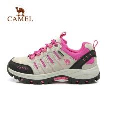 Unta Wanita Sepatu Hiking Tahan Lama Bernapas Anti-penyaradan Sepatu  (Peach)-Intl 93425306ea