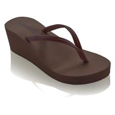 Harga Candice Classic Wedge Sandal Cokelat Murah