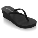 Candice Classic Wedge Sandal Hitam Promo Beli 1 Gratis 1