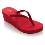 Jual Candice Classic Wedge Sandal Merah Dki Jakarta Murah