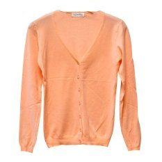 Review Toko Candies Cardigan V Neck Wanita 8928 Orange Soft Online