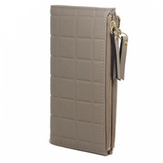 Beli Warna Kotak Permen Tas Dompet Kulit Dompet For Pemegang Peta Ritsleting Cewek Dompet Wanita Abu Abu Lengkap