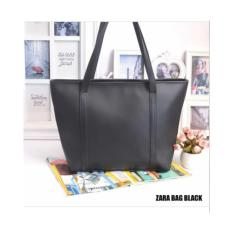 Candy Za Ra Totebag Tas Kuliah Polos Kulit Premium Black Hitam Promo Beli 1 Gratis 1