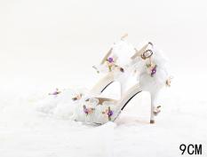 Beli Amelia Bunga Betina Renda Sandal Tumit Tinggi 9 Cm Sandal Summer A Model 9 Cm Sandal Summer A Model Cicilan