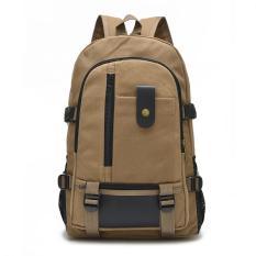 Ulasan Lengkap Tentang Canvas Backpack Pria Ransel Hiking Dan Camping Bag Khaki