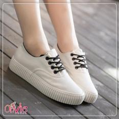 Canvas Shoes Casual  Sepatu Kets Sekolah Wanita Kanvas Putih