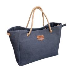 Kanvas tas bahu tas wanita Diagonal paket untuk wanita perempuan (biru)- International