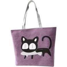 Harga Canvas Tote Bag Handbag Kartun Sekolah Tas Untuk Wanita Wanita Ungu Intl Yang Murah