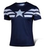 Spesifikasi Captain America T Shirt 3D Dicetak T Kemeja Pria Avengers Iron Man Civil War Tee Cotton Fitness Pakaian Pria Crossfit Tops Intl Yg Baik