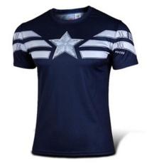 Captain America T Shirt 3D Dicetak T Kemeja Pria Avengers Iron Man Civil War Tee Cotton Fitness Pakaian Pria Crossfit Tops Intl Tiongkok