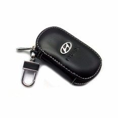 Car Drivers key Bag Black Leather Credit Card Bag Case For Hyundaii I20 I30 I35 I40 Tiburon Atos - intl
