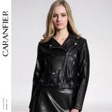 Caranfier Fashion Wanita Kulit Faux Jackets 6 Warna Coats Hitam Baju Wanita Jaket Wanita Oem Diskon 50
