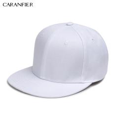 Caranfier Pure Warna Baseball Cap Hip Hop Flat Edge Topi (Putih)
