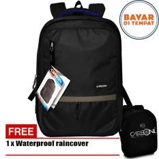 Carboni Make My Day Original Casual Backpack Laptop Sistem RA0004317 -  Black+ Raincover Waterproop. 5054452dcf