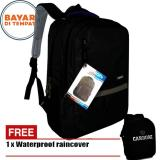 Spesifikasi Carboni Backpack Tas Ransel Laptop Mode Casual Urban Ra00043 15 Black Original Raincover Terbaik
